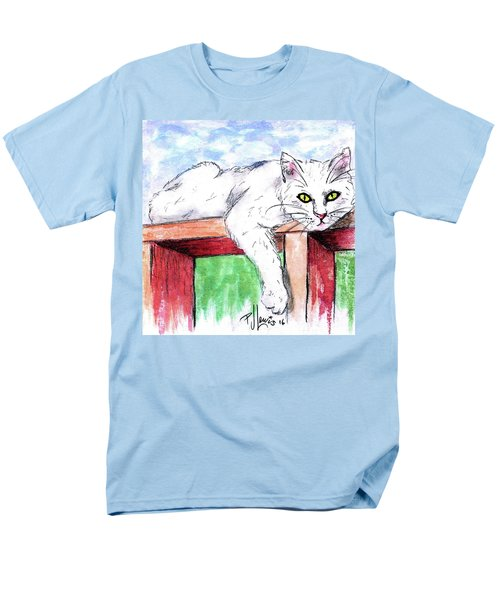 Men's T-Shirt  (Regular Fit) featuring the painting Summer Cat by P J Lewis