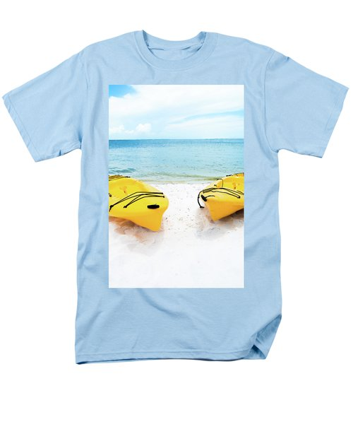Men's T-Shirt  (Regular Fit) featuring the photograph Summer Colors On The Beach by Shelby Young