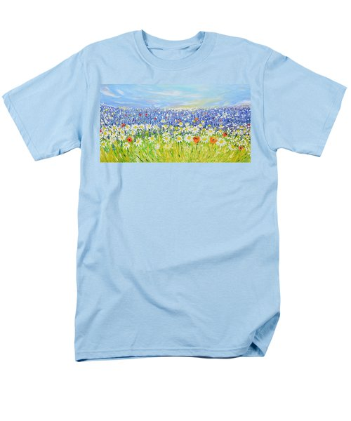 Men's T-Shirt  (Regular Fit) featuring the painting Summer Field by Evelina Popilian