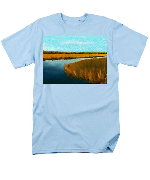 Summer Marsh South Carolina Lowcountry Men's T-Shirt  (Regular Fit) by Anthony Fishburne