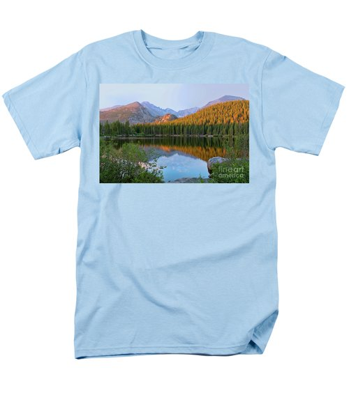 Men's T-Shirt  (Regular Fit) featuring the photograph Sunrise On Bear Lake Rocky Mtns by Teri Atkins Brown