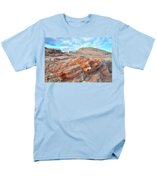 Sunrise On Sandstone In Valley Of Fire Men's T-Shirt  (Regular Fit) by Ray Mathis
