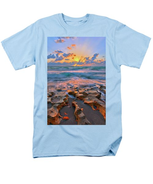 Men's T-Shirt  (Regular Fit) featuring the photograph Sunrise Over Carlin Park In Jupiter Florida by Justin Kelefas