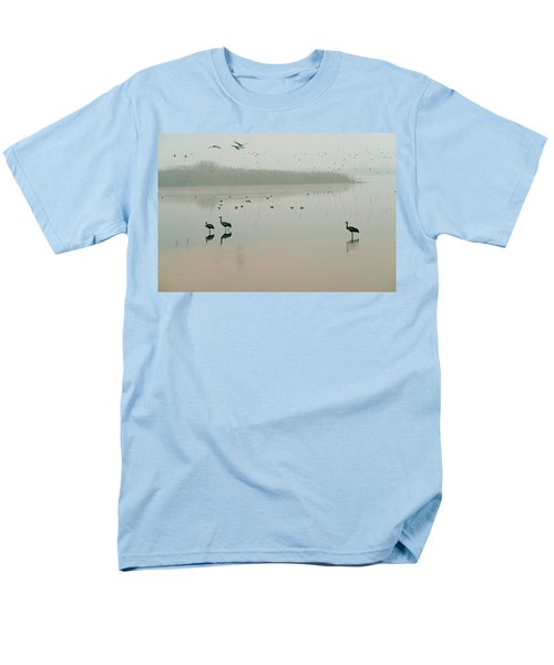 Men's T-Shirt  (Regular Fit) featuring the photograph Sunrise Over The Hula Valley Israel 2 by Dubi Roman