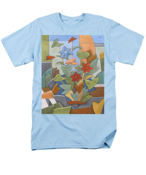 Sunset Flowerbed Men's T-Shirt  (Regular Fit) by Trish Toro