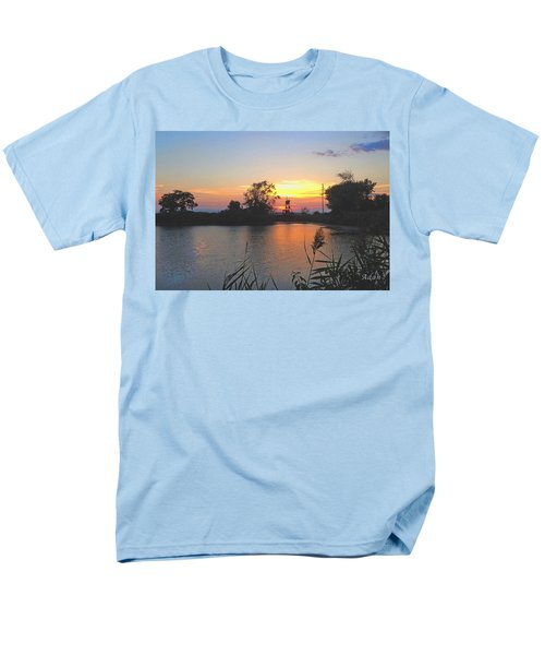 Sunset West Of Myer's Bagels Men's T-Shirt  (Regular Fit) by Felipe Adan Lerma