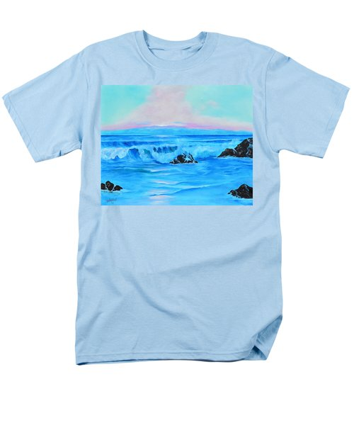 Surf At Sunset  Men's T-Shirt  (Regular Fit) by Lloyd Dobson