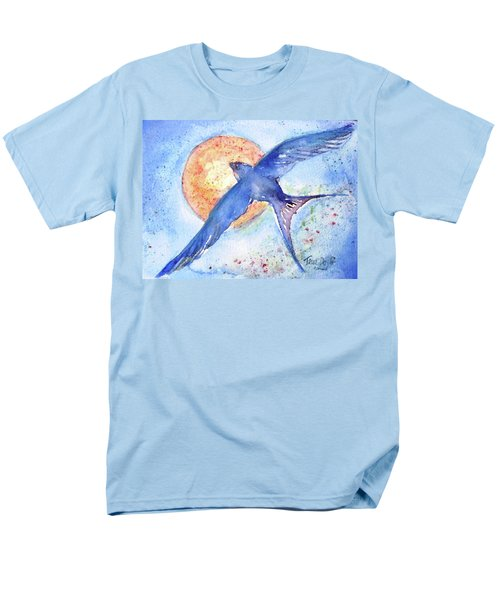 Men's T-Shirt  (Regular Fit) featuring the painting Swallows Return  by Trudi Doyle