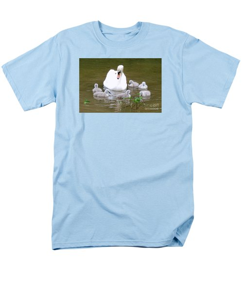 Men's T-Shirt  (Regular Fit) featuring the photograph Swan Lake 1 by Bill Holkham