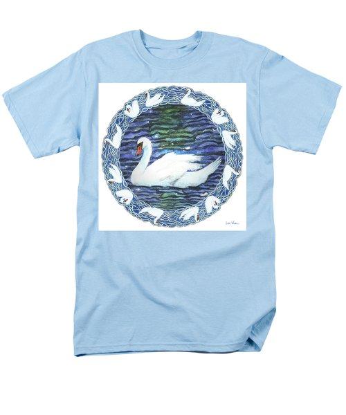 Swan With Knotted Border Men's T-Shirt  (Regular Fit) by Lise Winne