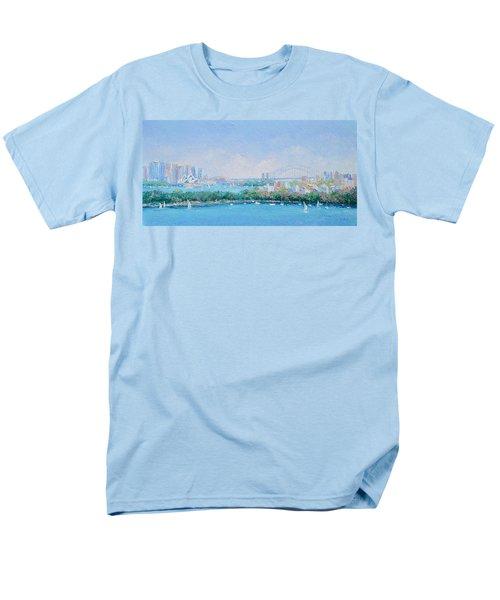 Sydney Harbour Bridge - Sydney Opera House - Sydney Harbour Men's T-Shirt  (Regular Fit)