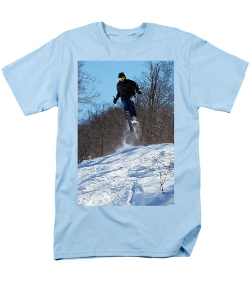 Men's T-Shirt  (Regular Fit) featuring the photograph Taking Air On Mccauley Mountain by David Patterson