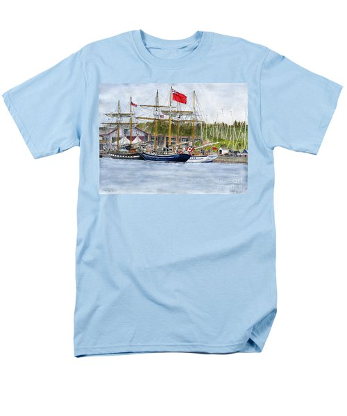 Men's T-Shirt  (Regular Fit) featuring the painting Tall Ships Festival by Melly Terpening