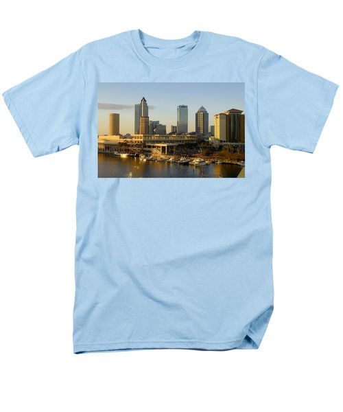 Tampa Bay And Gasparilla Men's T-Shirt  (Regular Fit) by David Lee Thompson