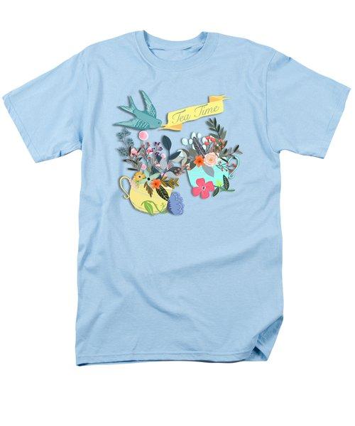 Tea For Two Men's T-Shirt  (Regular Fit) by Little Bunny Sunshine
