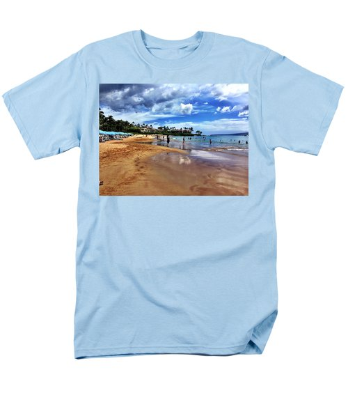 Men's T-Shirt  (Regular Fit) featuring the photograph The Beach 2 by Michael Albright