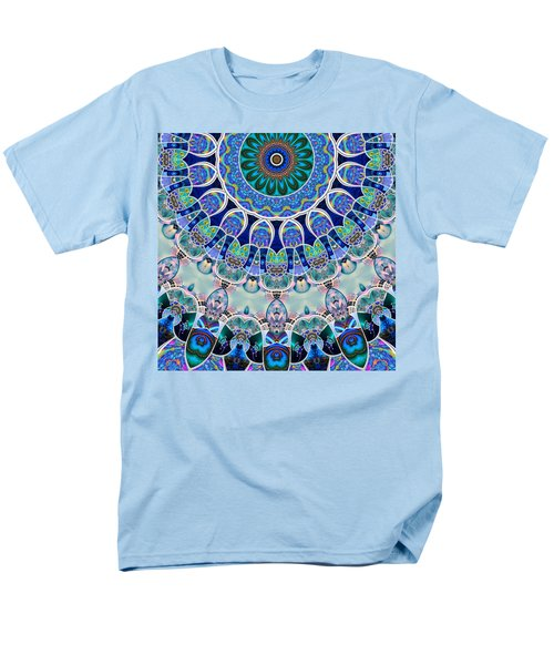 Men's T-Shirt  (Regular Fit) featuring the digital art The Blue Collective 02b by Wendy J St Christopher