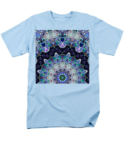 Men's T-Shirt  (Regular Fit) featuring the digital art The Blue Collective 05b by Wendy J St Christopher