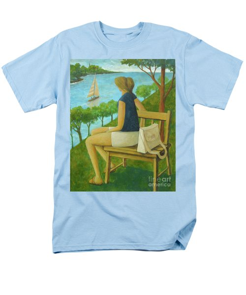 Men's T-Shirt  (Regular Fit) featuring the painting The Bluff by Glenn Quist