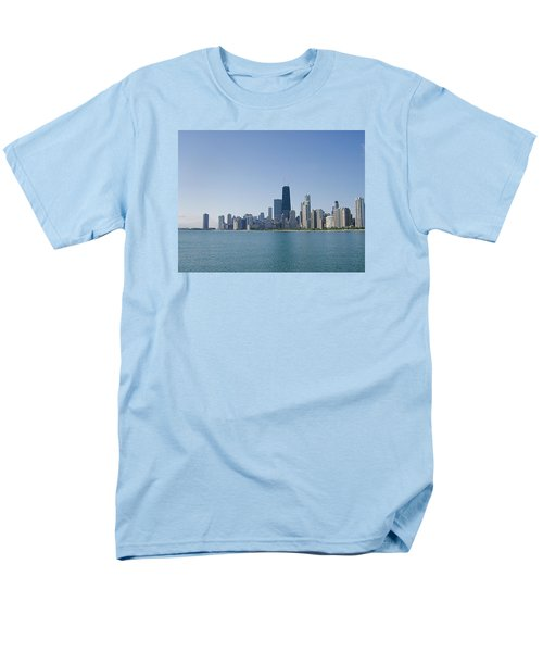 Men's T-Shirt  (Regular Fit) featuring the photograph The City Of Chicago Across The Lake by Skyler Tipton
