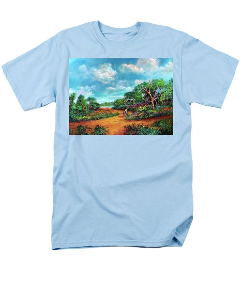 Men's T-Shirt  (Regular Fit) featuring the painting The Cycle Of Life by Randol Burns