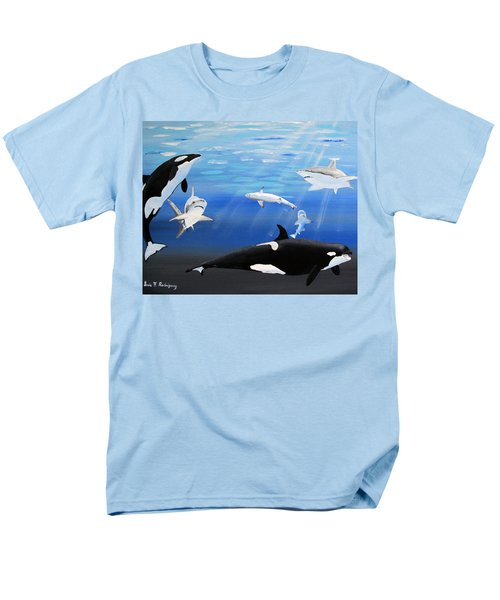 The Encounter Men's T-Shirt  (Regular Fit) by Luis F Rodriguez