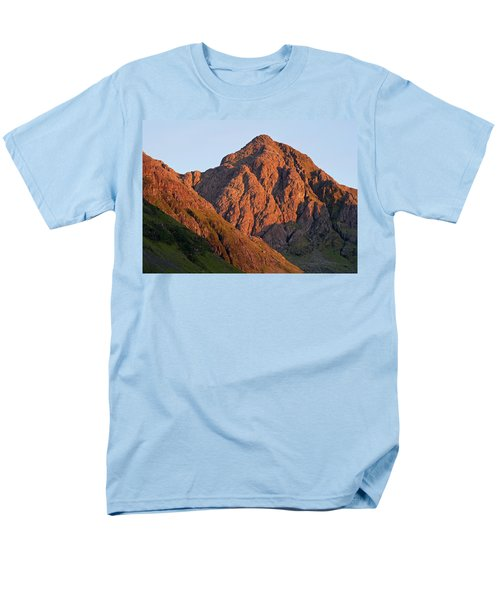 The Evening Light Hits Bidean Niam Ban Men's T-Shirt  (Regular Fit) by Stephen Taylor