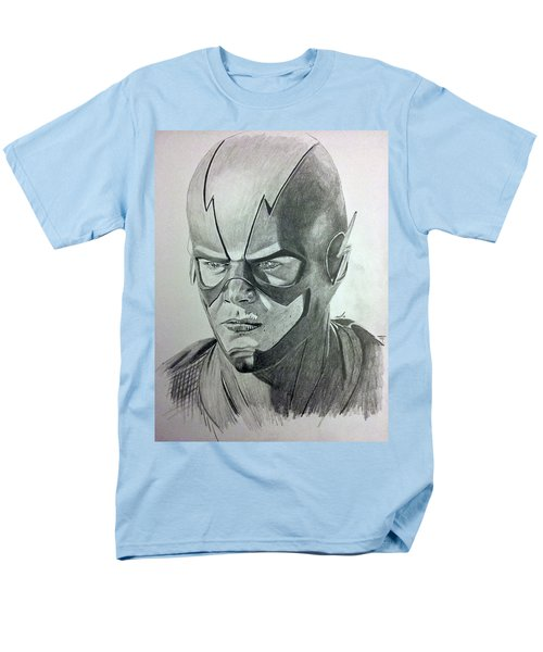 Men's T-Shirt  (Regular Fit) featuring the drawing The Flash by Michael McKenzie