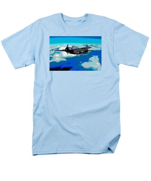 The High Flight Of A Grumman F4f Wildcat Men's T-Shirt  (Regular Fit) by Wernher Krutein