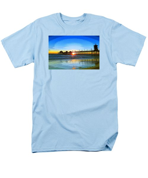 Men's T-Shirt  (Regular Fit) featuring the photograph The Huntington Beach Pier by Everette McMahan jr