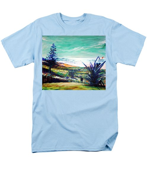 Men's T-Shirt  (Regular Fit) featuring the painting The Lawn Pandanus by Winsome Gunning