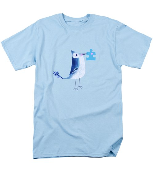 The Letter Blue J Men's T-Shirt  (Regular Fit) by Valerie Drake Lesiak