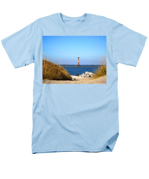 The Lighhouse At Morris Island Charleston Men's T-Shirt  (Regular Fit) by Susanne Van Hulst