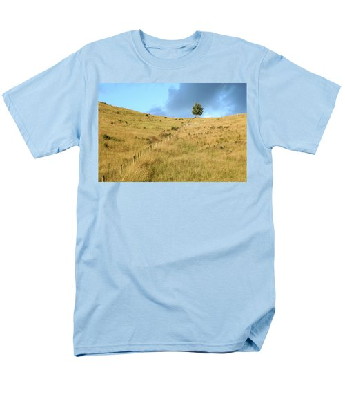 Men's T-Shirt  (Regular Fit) featuring the photograph The Lines The Tree And The Hill by Yoel Koskas