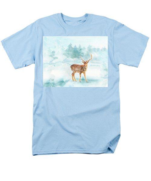 Men's T-Shirt  (Regular Fit) featuring the painting The Magic Of Winter  by Colleen Taylor