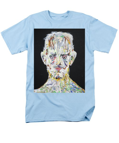 Men's T-Shirt  (Regular Fit) featuring the painting The Man Who Tried To Become A Mountain by Fabrizio Cassetta