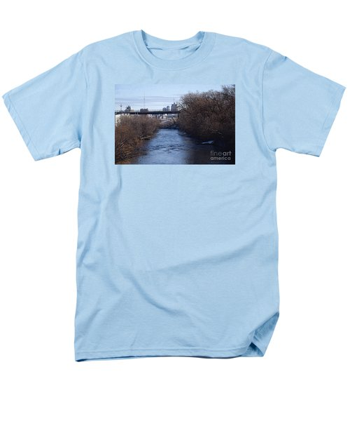 The Menomonee Near 33rd And Canal Streets Men's T-Shirt  (Regular Fit) by David Blank