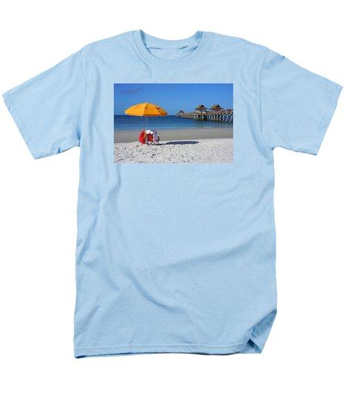 The Naples Pier Men's T-Shirt  (Regular Fit) by Robb Stan