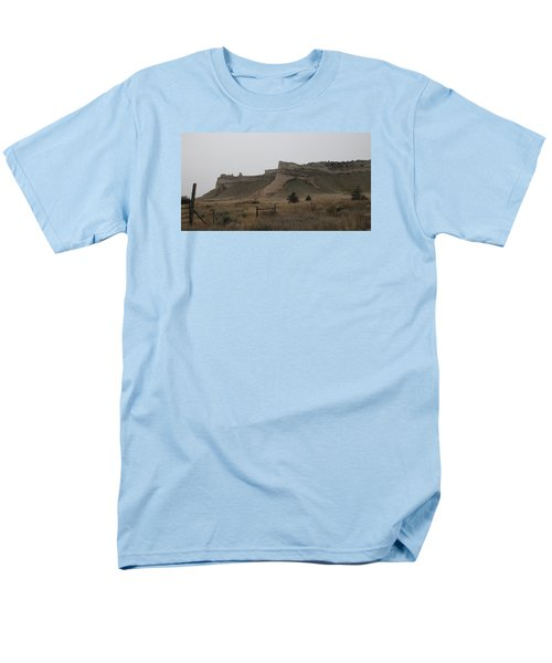 The Oregon Trail Scotts Bluff Nebraska Men's T-Shirt  (Regular Fit) by Christopher Kirby