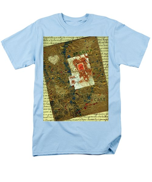 Men's T-Shirt  (Regular Fit) featuring the mixed media The Package by P J Lewis