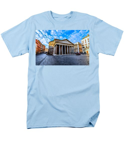 Men's T-Shirt  (Regular Fit) featuring the painting The Pantheon Rome by David Dehner