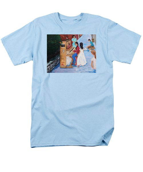 The Piano Player Men's T-Shirt  (Regular Fit) by Reb Frost