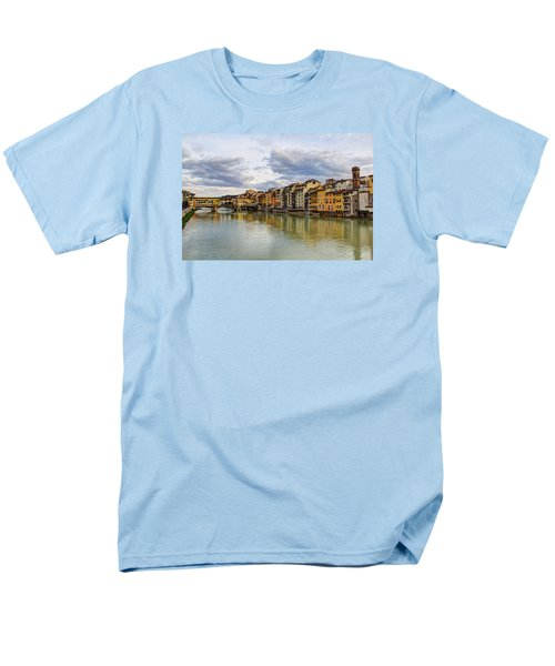 Men's T-Shirt  (Regular Fit) featuring the photograph The Ponte Vecchio And Florence by Wade Brooks