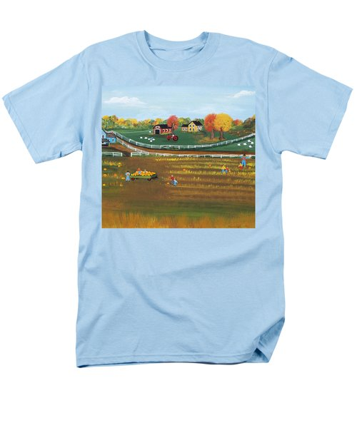 Men's T-Shirt  (Regular Fit) featuring the painting The Pumpkin Patch by Virginia Coyle