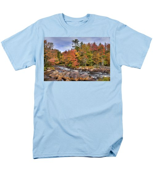 Men's T-Shirt  (Regular Fit) featuring the photograph The Rapids On The Moose River by David Patterson