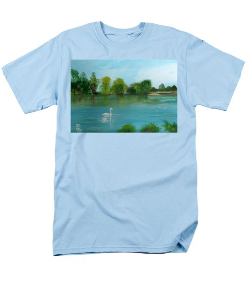 The River Thames At Shepperton Men's T-Shirt  (Regular Fit) by Carole Robins