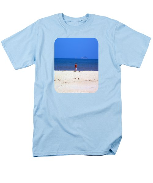 Men's T-Shirt  (Regular Fit) featuring the photograph The Swimmer by Ethna Gillespie