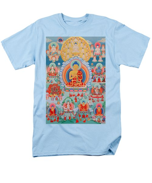 The Twelve Primordial Teachers Of Dzogchen - Tonpa Chu Ni Men's T-Shirt  (Regular Fit) by Sergey Noskov
