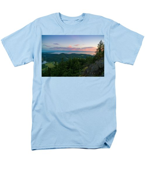 The View From Mt Erie Men's T-Shirt  (Regular Fit) by Ken Stanback