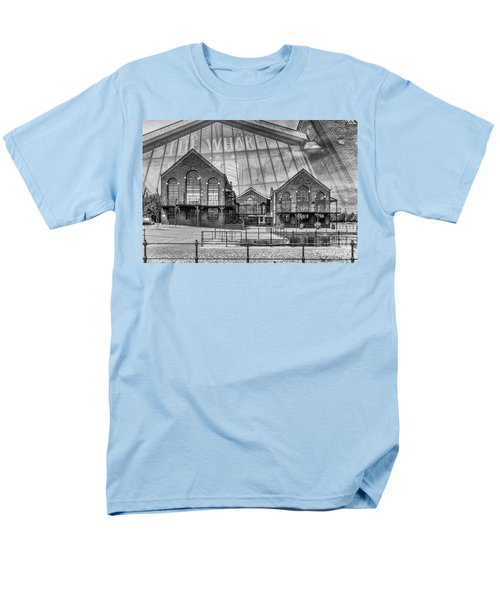 The Wharf Cardiff Bay Mono Men's T-Shirt  (Regular Fit) by Steve Purnell